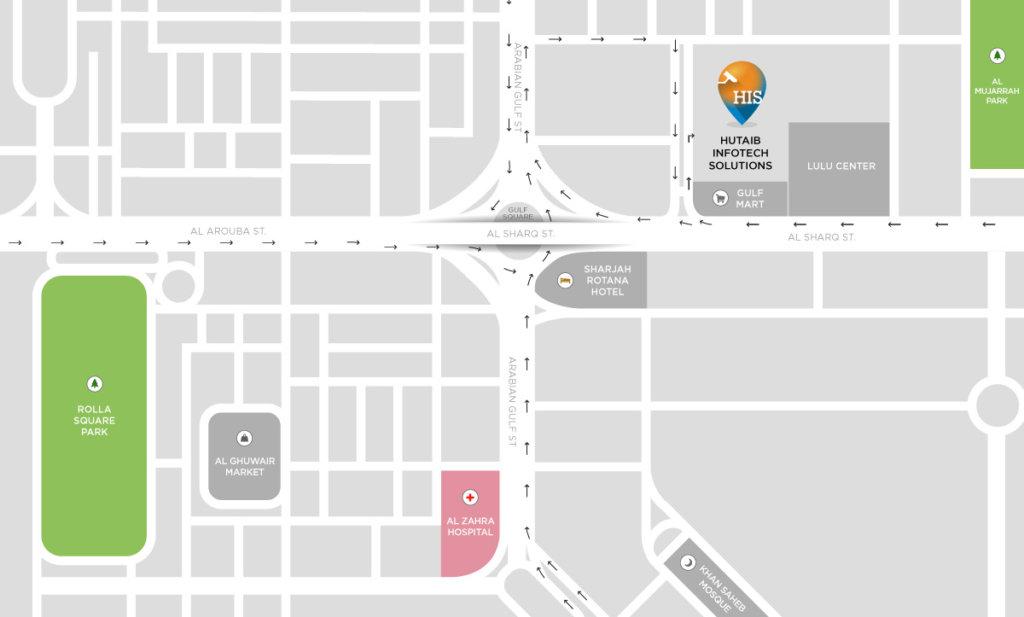 Sharjah-Office-Location-Map