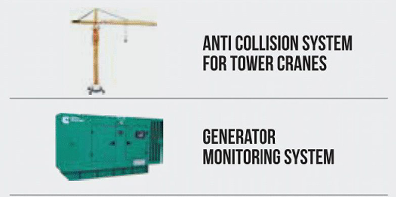 Anti Collision System For Tower Cranes / Generator Monitoring System